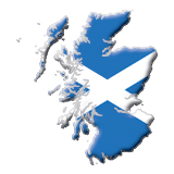 scotland map flag